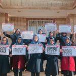 دانش آموزان فراشبند با نقاشی به مبارزه با ایدز رفتند