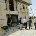 بازدید معاون فنی و عمرانی فرمانداری از پروژه در حال ساخت ساختمان شماره ۳ مرکز خدمات جامع سلامت شهدای فراشبند
