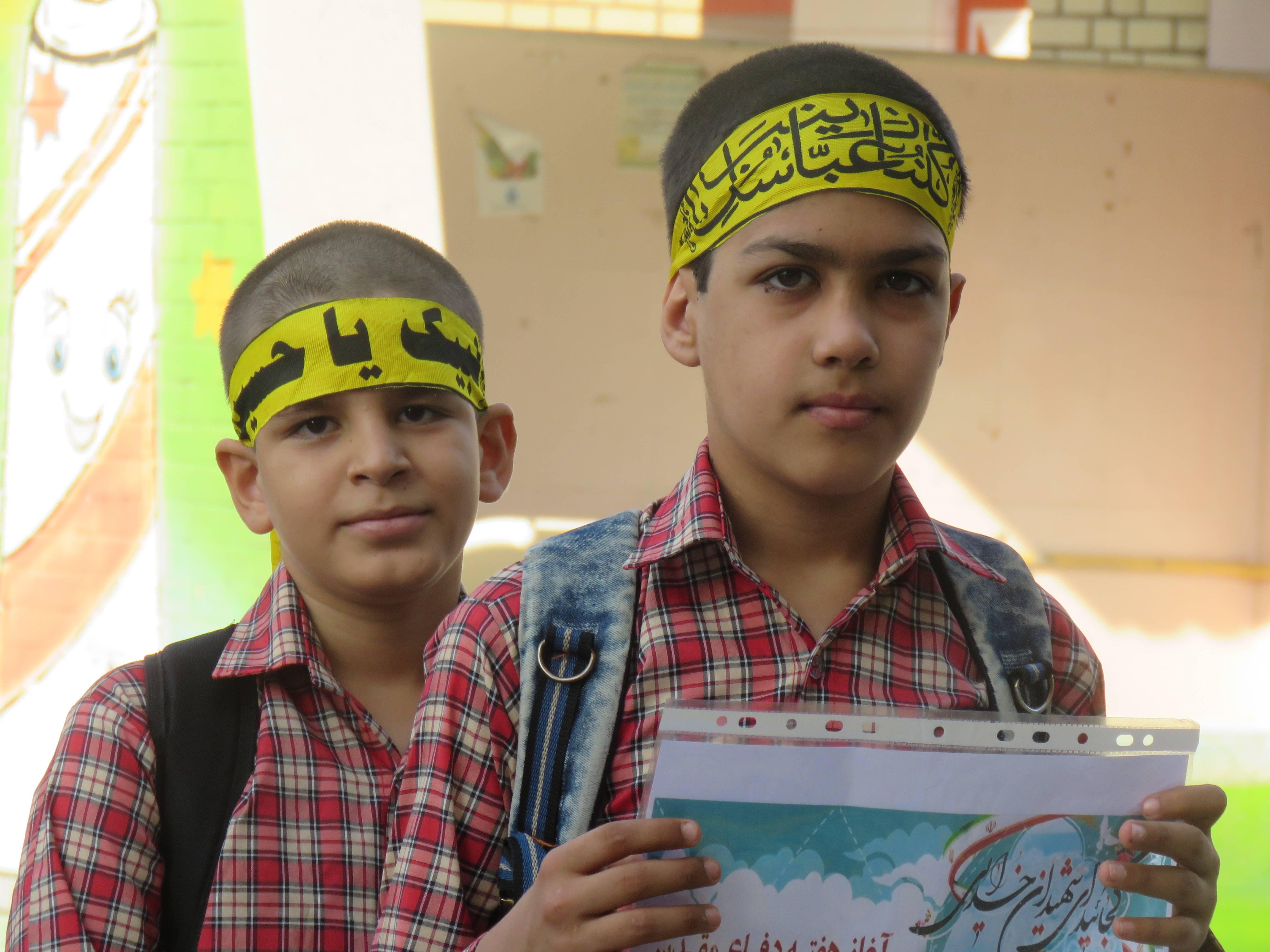 زنگ مهر حسینی در مدارس فراشبند به صدا در آمد