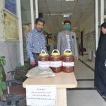اهدای ۲۰ کیلو عسل به بیمارستان مراقبت کرونا حضرت علی اصغر(ع) شیراز از سوی بسیج خواهران فراشبند