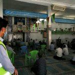 برپایی نخستین مراسم نماز جمعه در فراشبند پس از شیوع کرونا با اتخاذ تدابیر ویژه بهداشتی