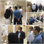 بازدید فرماندار شهرستان فراشبند از روند ارائه خدمات به بیماران مبتلا به ویروس کرونا در بیمارستان امام هادی فراشبند