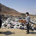 بازدید رئیس مرکز بهداشت شهرستان فراشبند از سایت دفن پسماند شهرفراشبند و نوجین