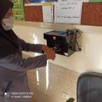اهدای سه دستگاه هوشمند ضدعفونی کننده دست به مرکز خدمات جامع سلامت دولت آباد فراشبند و خانه های بهداشت زیر پوشش