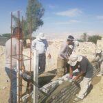 اردوی دو روزه جهادی بسیج سازندگی سپاه فراشبند برای ساخت خانه در دولت آباد دژگاه