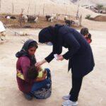 آغاز اجرای طرح ایمن سازی کودکان زیر پنج سال در عشایر روستای امامزاده شهید(ع) فراشبند