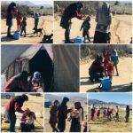 آغاز مرحله نخست طرح واکسیناسیون تکمیلی فلج اطفال کودکان زیر پنج سال در منطقه عشایری بند ریگ حسین آباد فراشبند