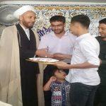 تجلیل امام جمعه فراشبند از دو نخبه ورزشی