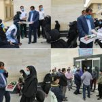 تقدیر فرماندار فراشبند از مدافعان سلامت مرکز خدمات جامعسلامت شهدای این شهر به مناسبت هفته سلامت