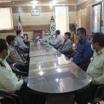 دیدار رئیس شبکه بهداشت و درمان فراشبند با فرمانده نیروی انتظامی شهرستان