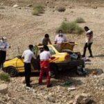 ۷مصدوم در اثر واژگونی خودروی پراید در محور فیروزآباد،فراشبند،جم